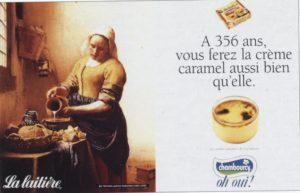 Visuel de la Publicité la laitère, illustration storytelling