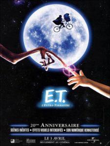 Affiche du film E.T. de Steven Spielberg